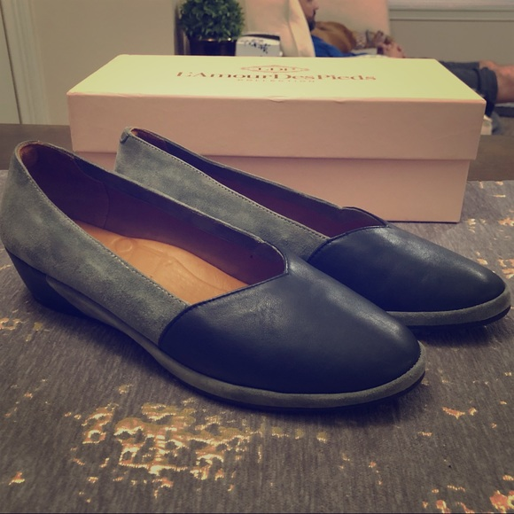 L'Amour Des Pieds Shoes - NIB L'Amour Des Pieds Bracey Leather Wedges